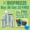 Biofreeze BUY 38 GET 10 FREE + FREE Roll TheraBand Kinesiology Tape & Sample Pack