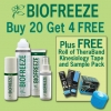 Biofreeze BUY 20 GET 4 FREE + FREE Roll TheraBand Kinesiology Tape & Sample Pack