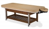 Living Earth Crafts Napa La Mer Spa & Salon Table w/Teak Base