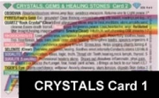 Crystals,Gems, & Healing Stones - Chart 1