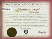 Bamboo Fusion 16 CEU's Course & Bucks Coupon