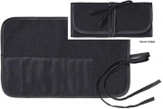 9 Pocket Roll & Tie Brush Pouch, black