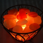 Pro Basket Warmer w/ 20 Himalayan Salt Massage Stones