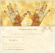 Chakra Hands Non-Folded Gift Certificates
