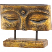 Wooden Plaque Free Standing Eye of Buddha