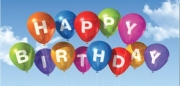 Balloon Birthday Non-Folded Gift Certificate