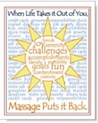 When Life Takes it Out of You, Massage Puts it Back - Poster