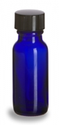Cobalt Blue Round Bottle & Cap 18-400