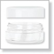 Jar with Threaded Cap - Clear - bag / 25