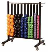 Studio Rack w/Casters - holds 10 columns of dumbbells