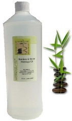 Bamboo & Stone Massage Oil - 32 oz.