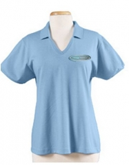 Massage Therapist Embroidered Ladies' V Neck Blended Jersey Polo with SpotShieldTM