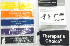 Therapist's Choice® Loop Resistance Band 5pc Set with Free Carry Bag