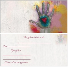 Colorful Hands Non-Folded Gift Certificates