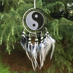 Wind Chime Native Dream Catcher with Yin Yang Tapestry 1232CM