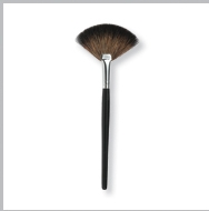 Finishing Fan Brush with Black Handle & Silver Ferrule; 6.5 in