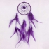Purple Lovely Dream Catcher With Feathers Wall Hanging 001888