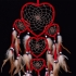 Handmade Love Heart Dream Catcher Mesh Net With Feathers