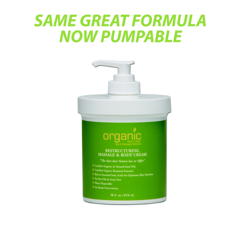 Organic Bath & Body Restructuring Massage Cream - 16 oz
