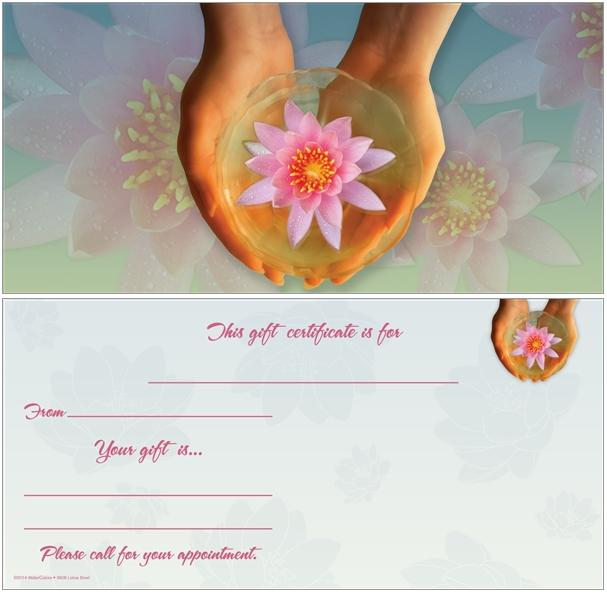 Hands With Lotus Non Folded Gift Certificate Anytime Year Around