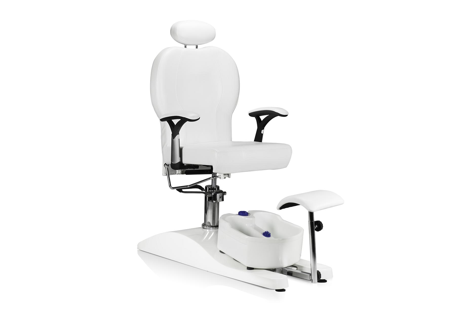 Pedicure chair dimensions - Pedicure Chair With Free Deluxe Foot Spa White
