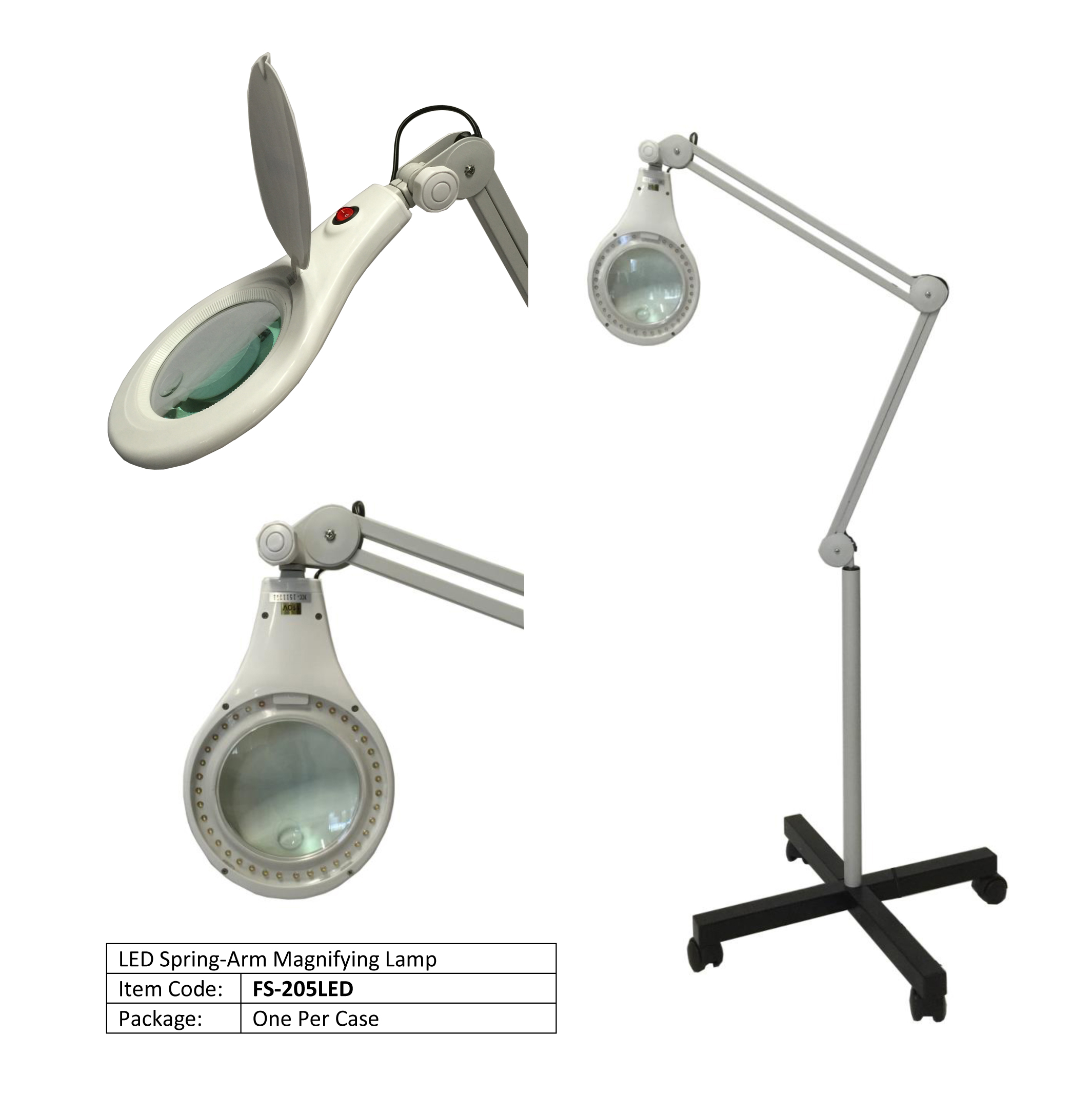 lamp led studio magnifier clamp white products designs magnifying art