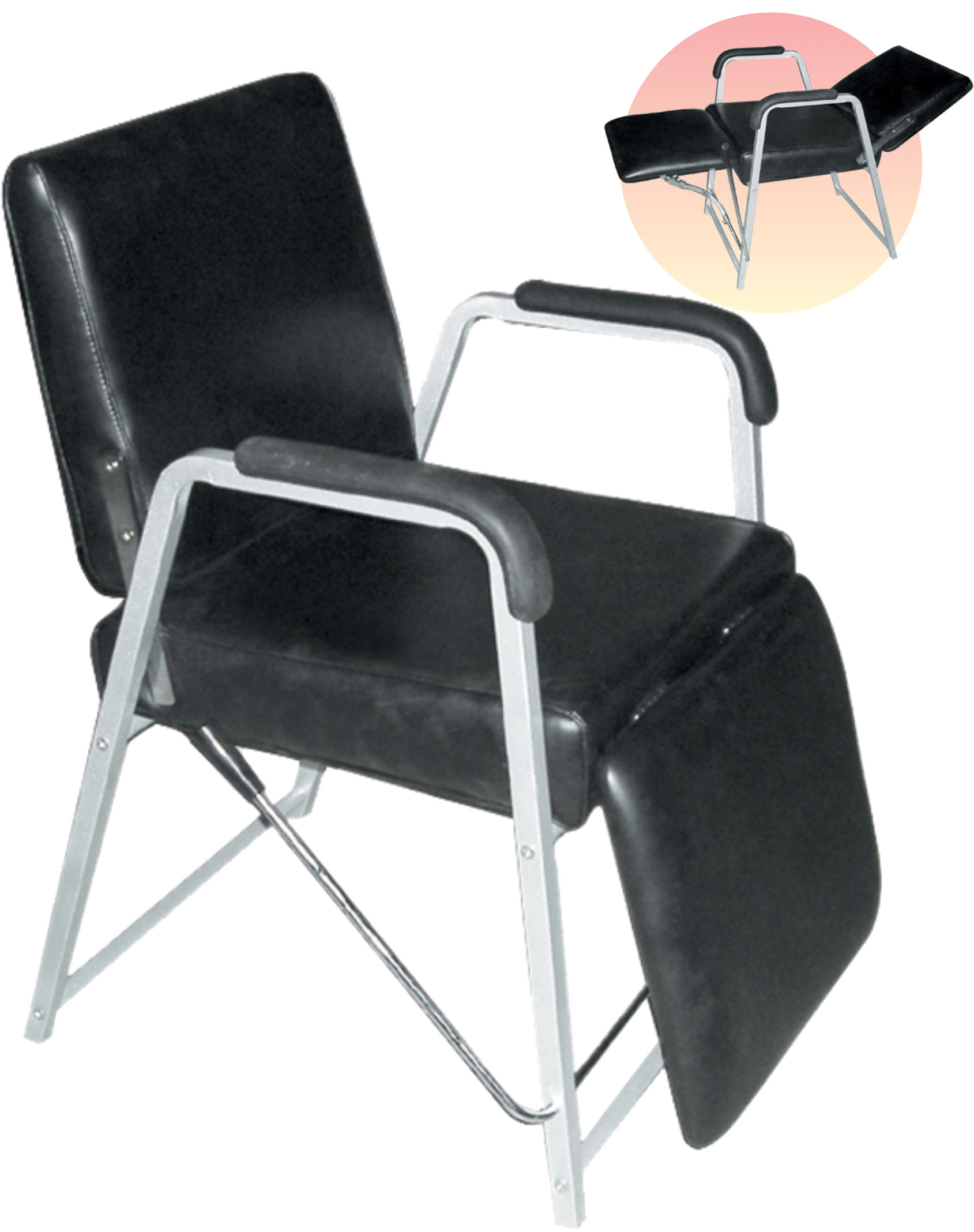 Classic Reclining Shampoo Chair With Adjustable Back And