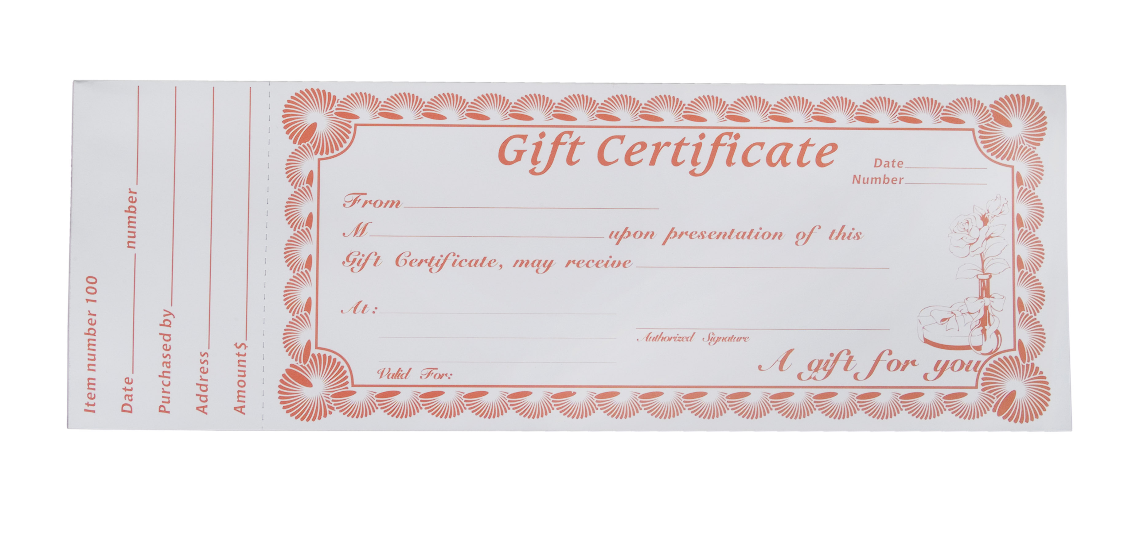 Generic Gift Certificate Templates  MyCreativeShop