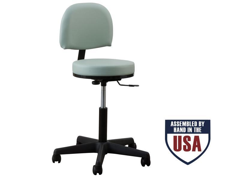 Bluegrass Upholstery Oakworks Professional Stool with Backrest