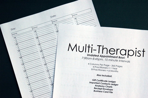 multi therapist appointment book refill