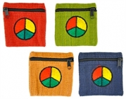 Peace Sign Coin Bags