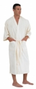 Canyon Rose Men's Plush Microfiber Spa Robe WHITE XL CLEARANCE