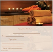 Natural Spa Non-Folded Gift Certificate