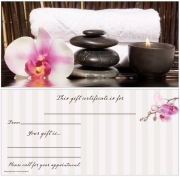 Orchid and Stones Non-Folded Gift Certificates