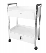 Esthetician's Facial Trolley Cart with 2 Keyed Locking Drawers T922