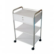Esthetician's Facial 3 Shelf Trolley with Keyed Locking Drawer T912