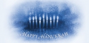 Hanukkah Candles Non-Folded Gift Certificate