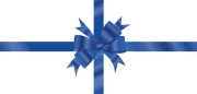 Blue Bow Non-Folded Gift Certificate