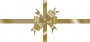 Gold Bow Non-Folded Gift Certificate
