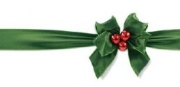 Holiday Bow Non-Folded Gift Certificate