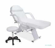 Parker Facial Bed Chair & Stool - WHITE