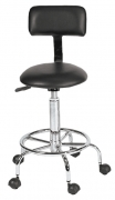 Deluxe Lever Stool with Back Support FBC-DS