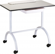 Portable Manicure Table Station Roll About