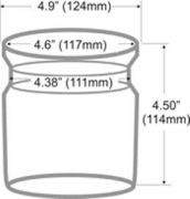 FS-8in1 GJ Steamer Glass Jar Replacement 5 in dia. x 4.5 tall