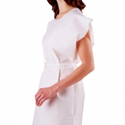 Tidi Gown White Tissue/Poly/Tissue