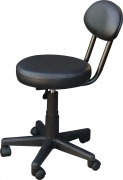Pedicure Stool with Backrest
