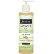 Bon Vital Therapeutic Touch Massage Oil with Pump - 8 oz.