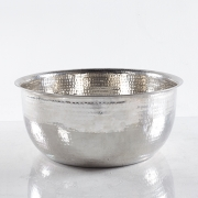 Noel Asmar Hammered Stainless Steel Round Pedicure Bowl