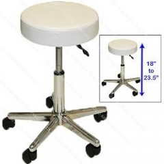 Stool with Polished Chrome Star Base