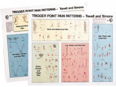 LWW Travell & Simons Trigger Point & Pain Patterns Wall Charts I & II